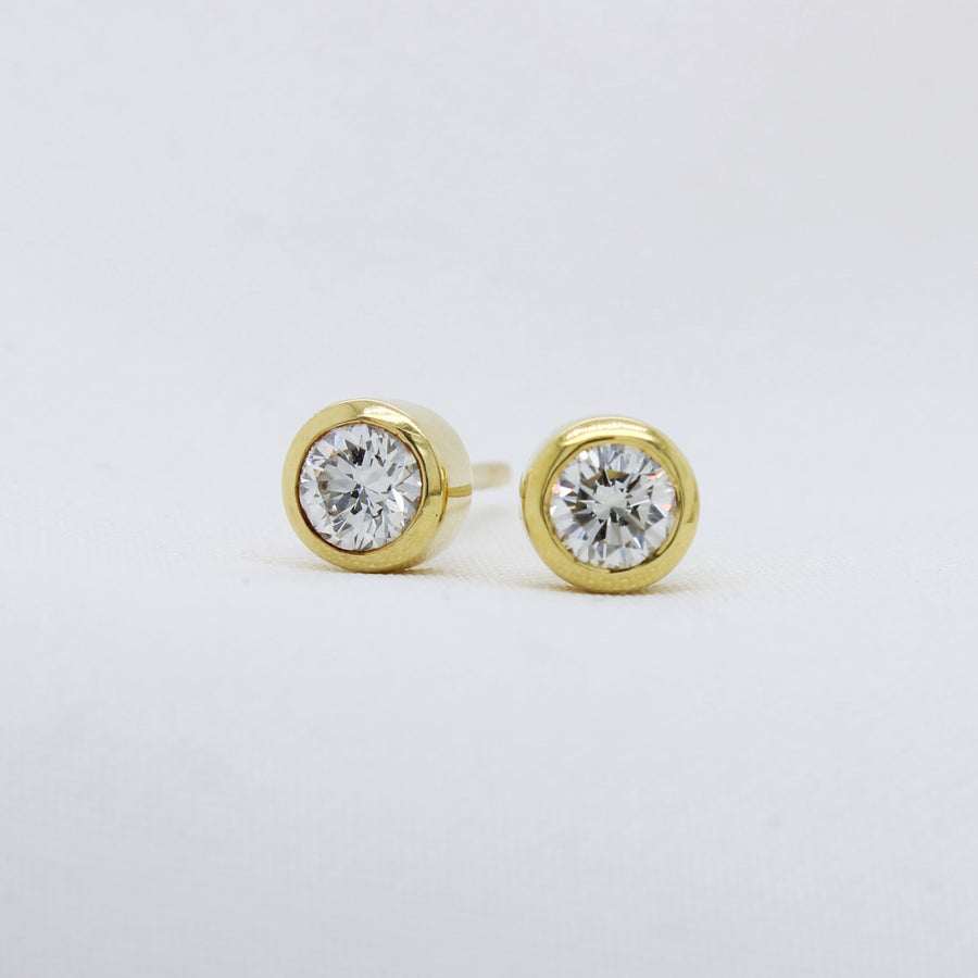EGS - 18K Yellow Gold Diamond Earrings - The French Door Jewellers