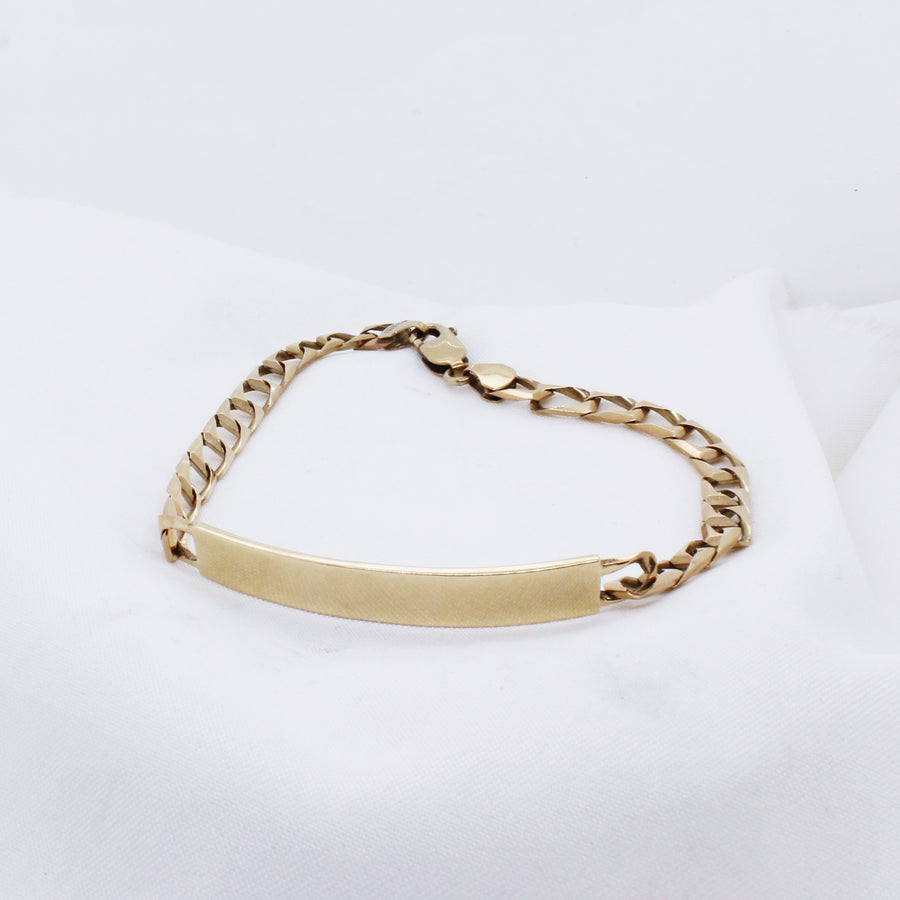 EGS - 9K Yellow Gold ID Bracelet - The French Door Jewellers