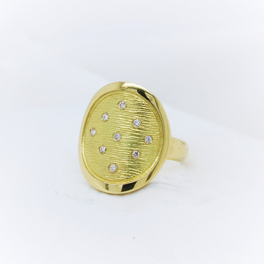 18K Yellow Gold Diamond Ring - The French Door Jewellers