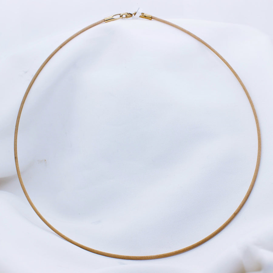 9k Yellow Gold Cable Chain - The French Door Jewellers