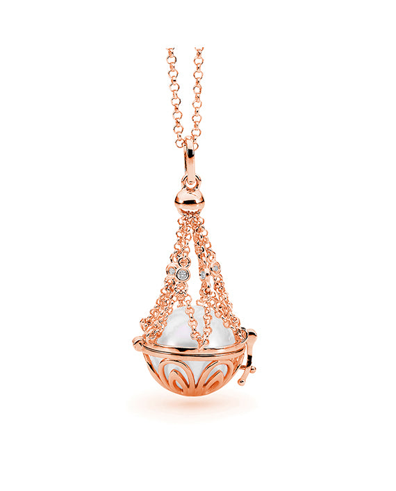 14ct Rose Gold Adjustable Basket Necklace