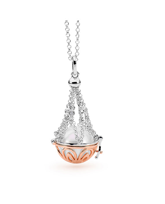 Two-Tone Adjustable Basket Necklace - The French Door Jewellers