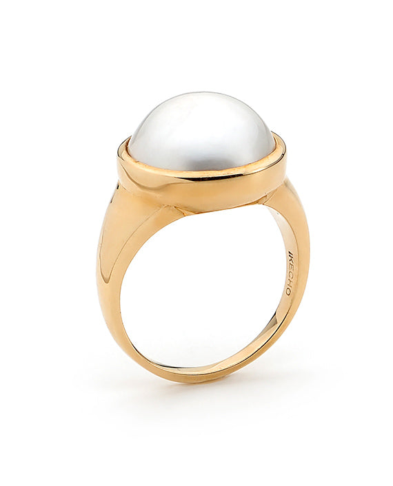 9K Yellow Gold Mabe Ring - The French Door Jewellers