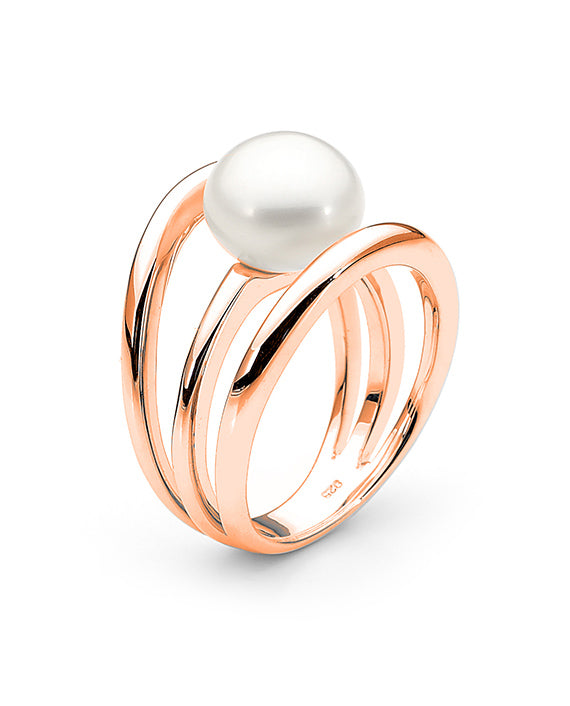 9ct Rose Gold Freshwater Pearl Ring