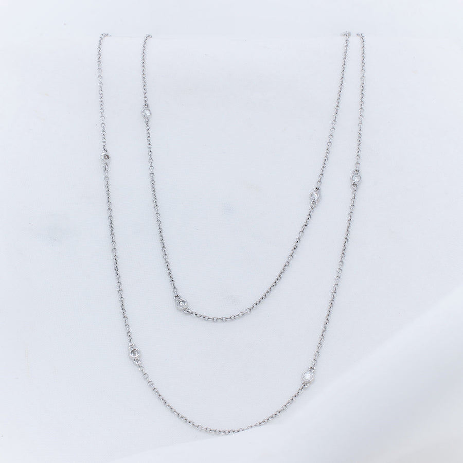 9K White Gold Diamond Necklace - The French Door Jewellers