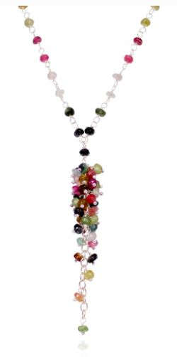 Maria Necklace 01A (Tourmaline) - The French Door Jewellers