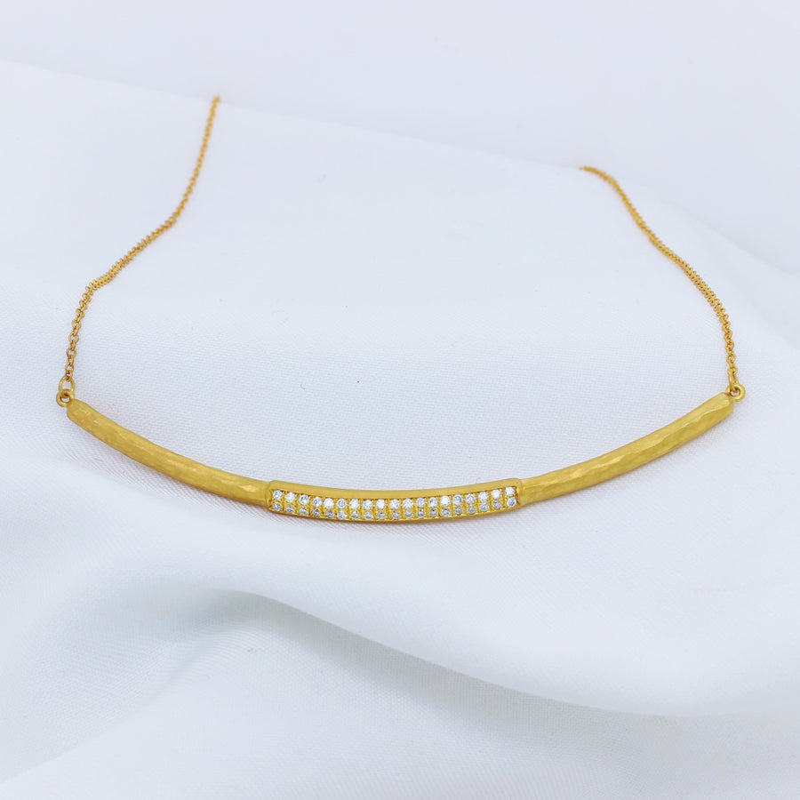 14K Yellow Gold Diamonds Necklace - The French Door Jewellers