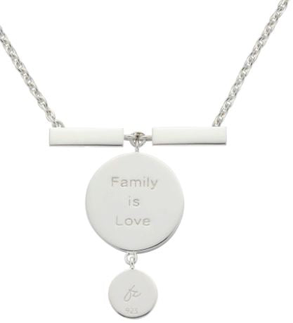 MY FAMILY NECKLACE (2 LENGTHS) Made of sterling silver, this piece is one to keep close to your heart. - The French Door Jewellers