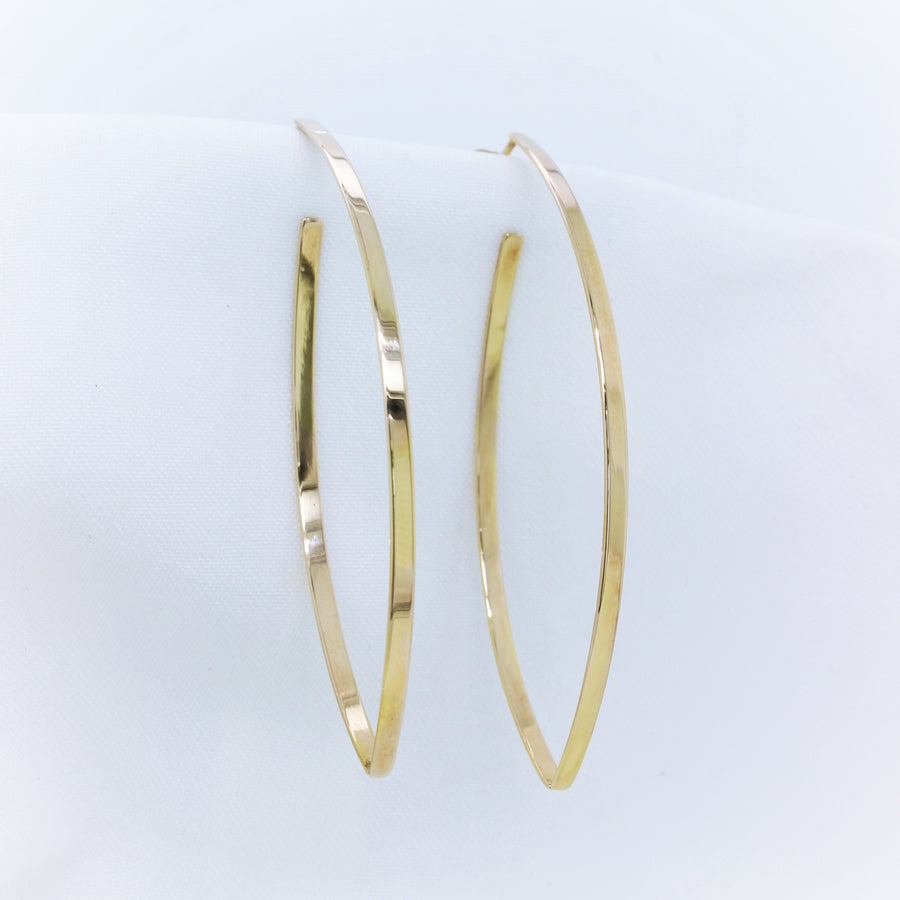 9K Yellow Gold Marquise Gold Earrings - The French Door Jewellers