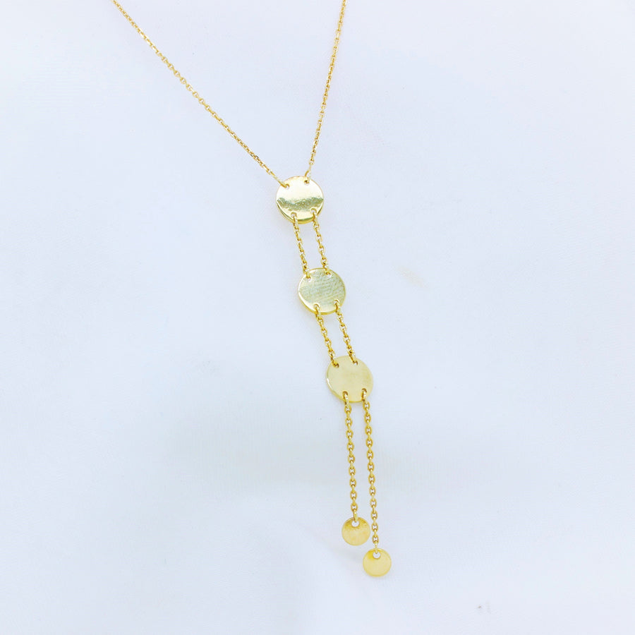 9K Yellow Gold Multiple Circle Necklace - The French Door Jewellers