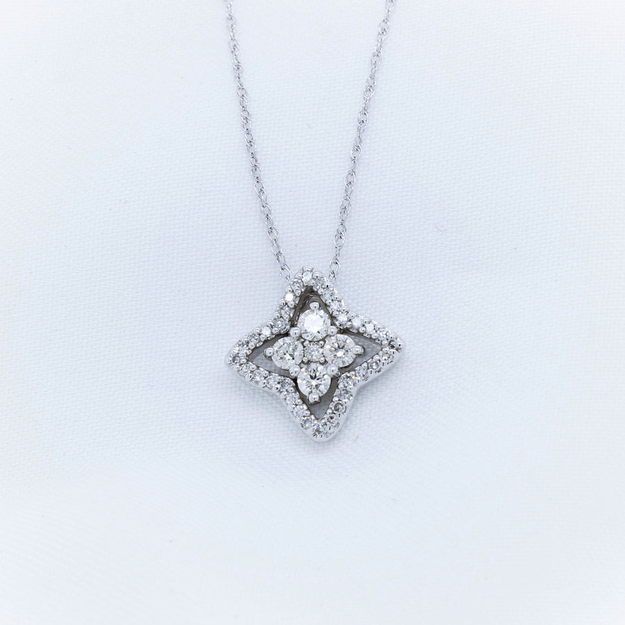 14K White Gold Diamond Necklace - The French Door Jewellers