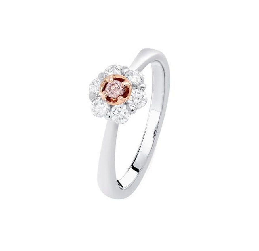 Argyle Kimberley Petite Peony Ring   - 18K Rose & White Gold - The French Door Jewellers
