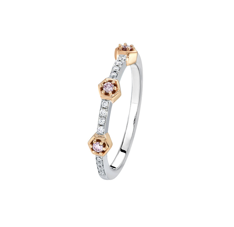 Argyle Kimberley Kally Ring - 18K Rose & White Gold - The French Door Jewellers