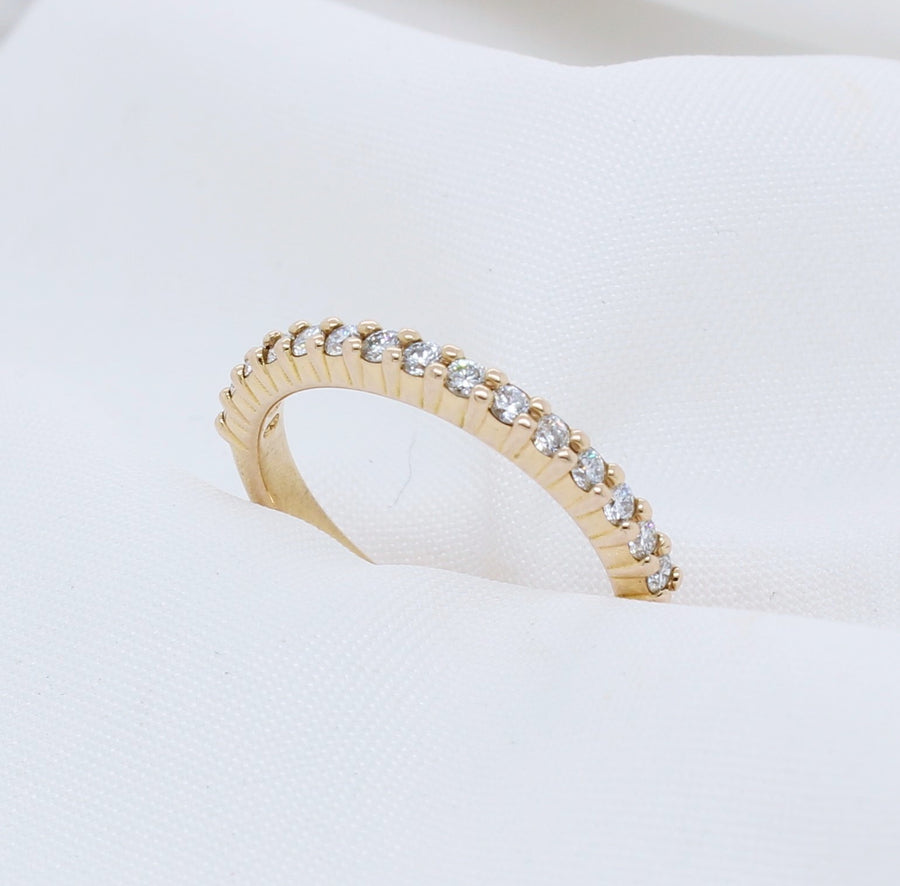 EGS - 18K Rose Gold Half Eternity Diamond Ring - The French Door Jewellers