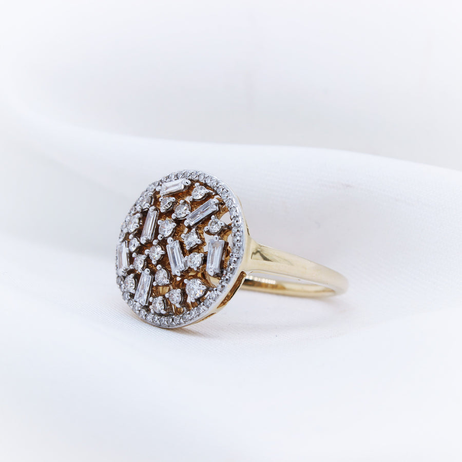 14k Yellow Gold Diamond Ring - The French Door Jewellers
