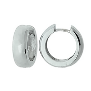 Breuning - Sterling Silver Hoops - The French Door Jewellers