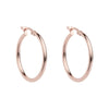 Najo Simple Hoop 2x25mm (Rose) - The French Door Jewellers