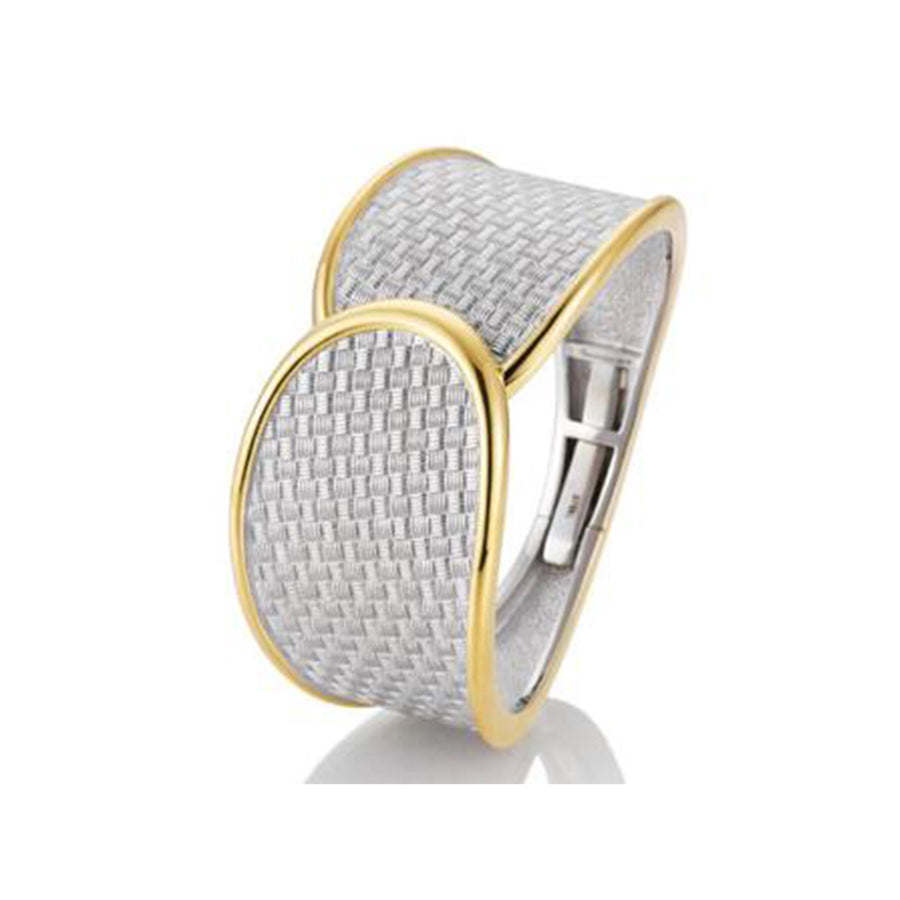 Breuning - Bangle SS/YG Plated - The French Door Jewellers