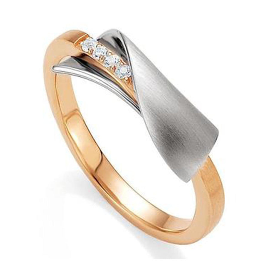 Ring SS/RH/RG with White Sapphire - The French Door Jewellers