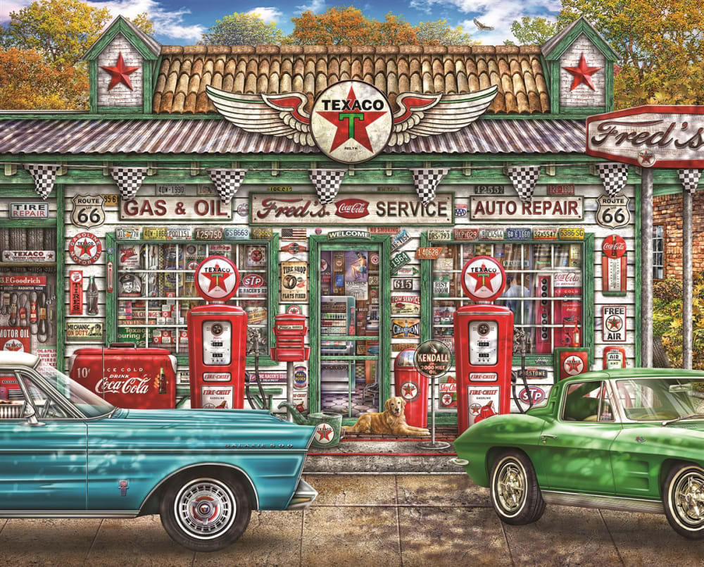 1000 piece Fred's Service Station