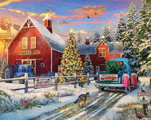 1000 piece Red Barn Tree Farm