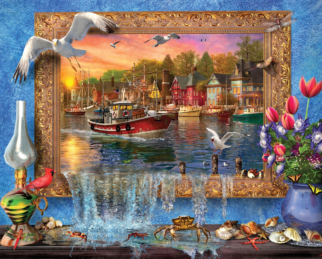 1000 piece Seaside Harbor