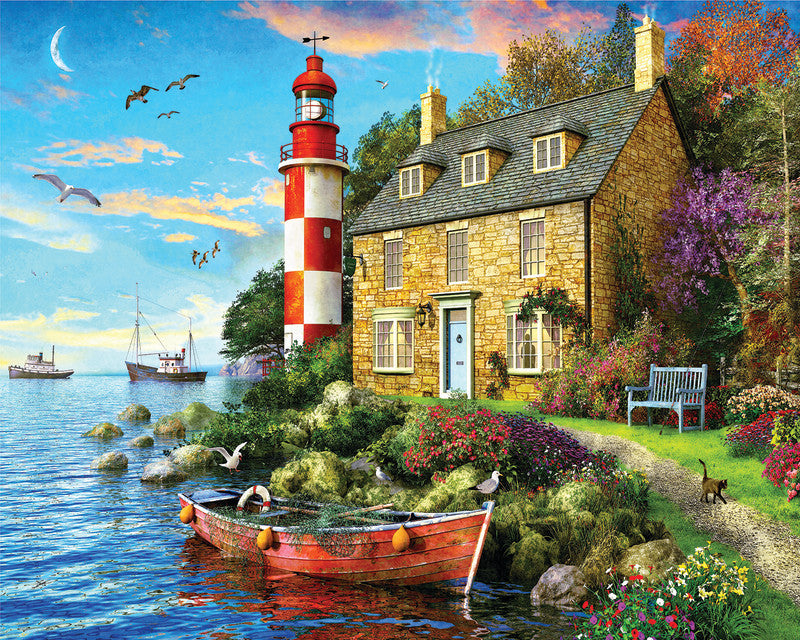 1000 piece The Cottage Lighthouse