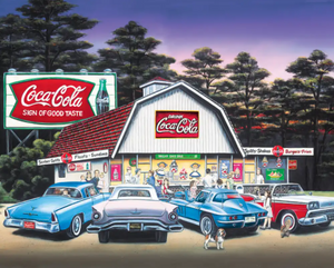 1500 piece Night on the Town Coca-Cola