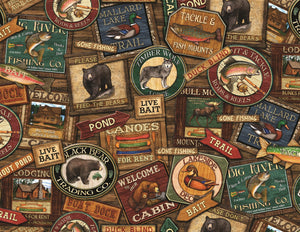 500 piece Lodge Signs