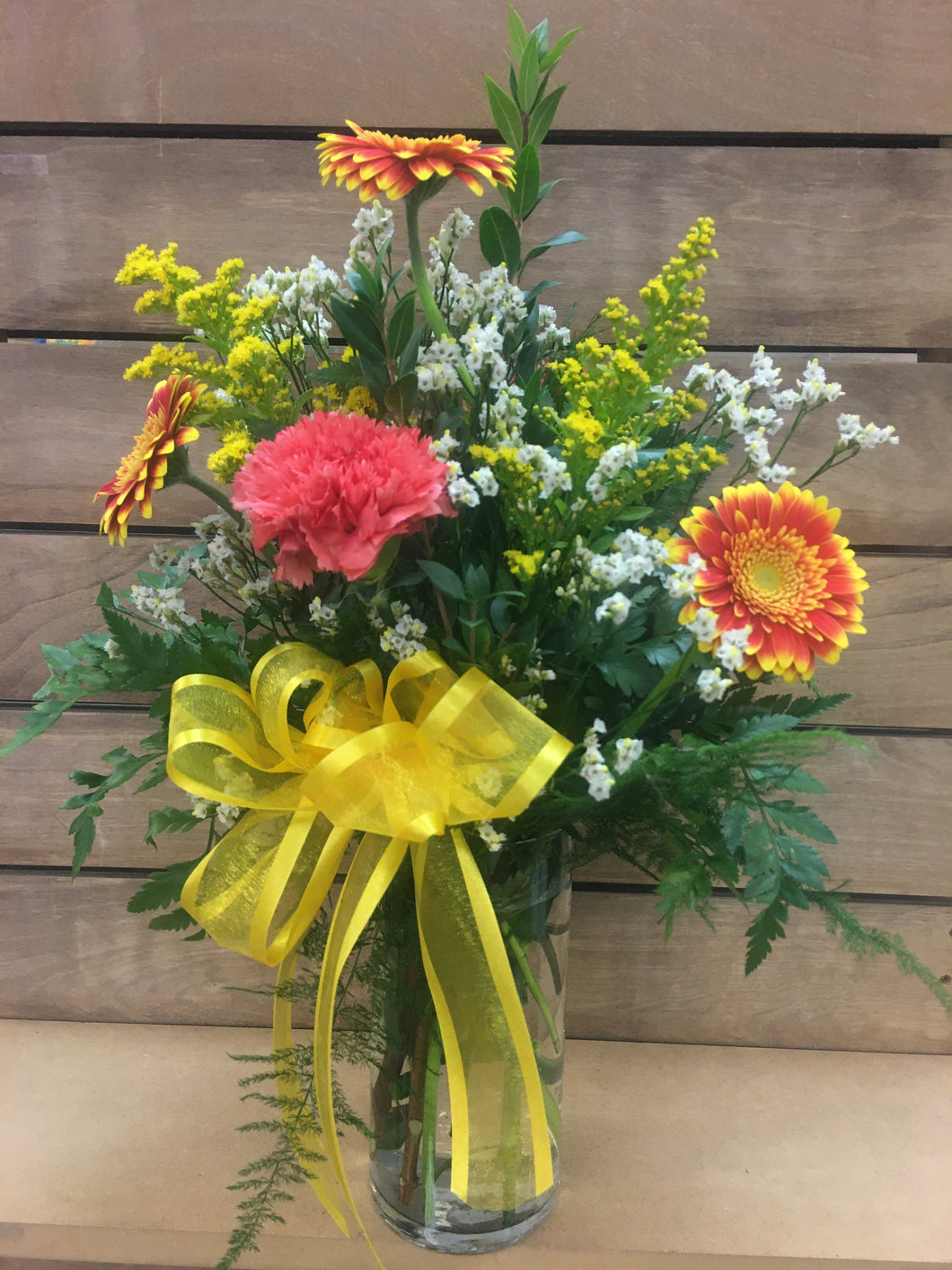 FLOWERS - Gerbera Daisies and Carnations in Vase