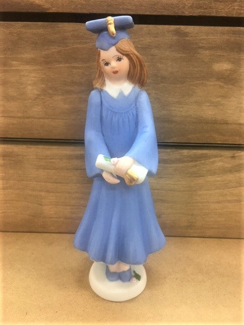 Growing up Girl Brunette Graduate Figurine
