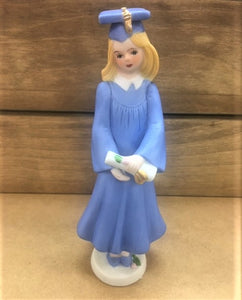 Growing up Girl Blond Graduate Figurine