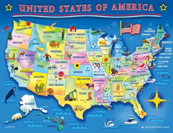 60 piece USA Map