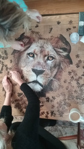 550 piece Madd Capp Puzzle: I AM Lion