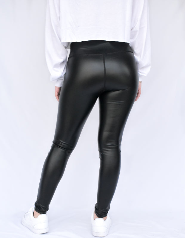 GLAZED HIGH WAISTED LIQUID LEGGINGS
