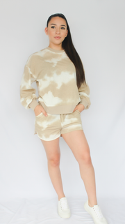 LATTE TIE DYE SHORT SET - Nouveau Marketplace