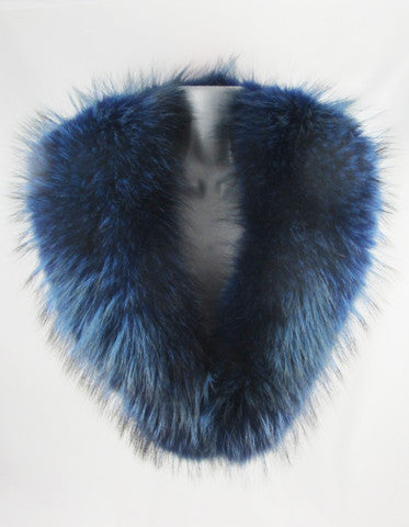 Racoon Coloured Fur Collar