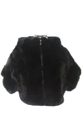 Sheared Rex Rabbit Bolero Jacket