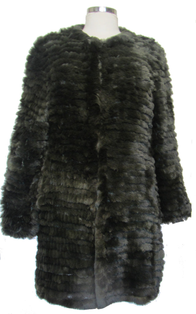 Rex Rabbit Fur Jacket Three Quarter Length