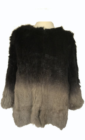 Degradee Fur Jacket
