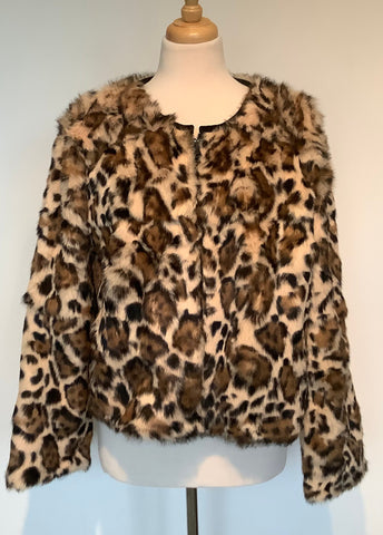 Rabbit Jacket with Leopard Print