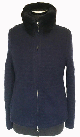Reversible Cashmere Rex Rabbit Jacket