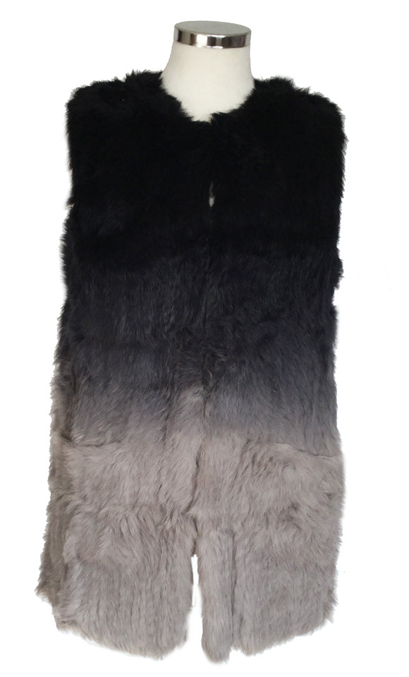 Rabbit Fur Gilet by COZI