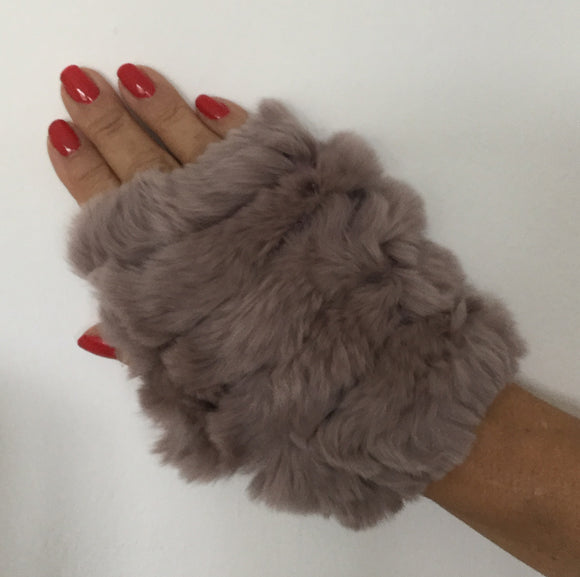 Fur Collar & Mitten Set