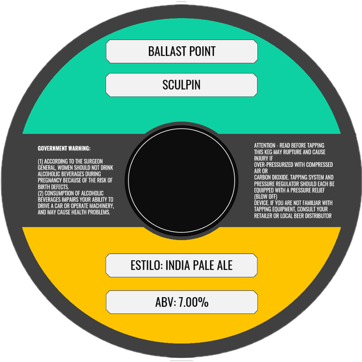 BALLAST POINT SCULPIN IPA (BARRIL) - CebadaMalteada
