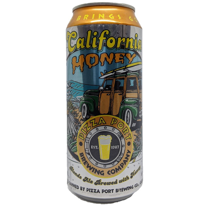 PIZZA PORT CALIFORNIA HONEY ALE 16oz (LATA) - CebadaMalteada