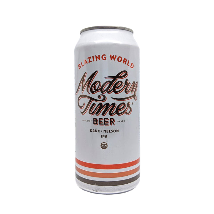 MODERN TIMES BLAZING WORLD WEST COAST NELSON IPA 16oz - CebadaMalteada
