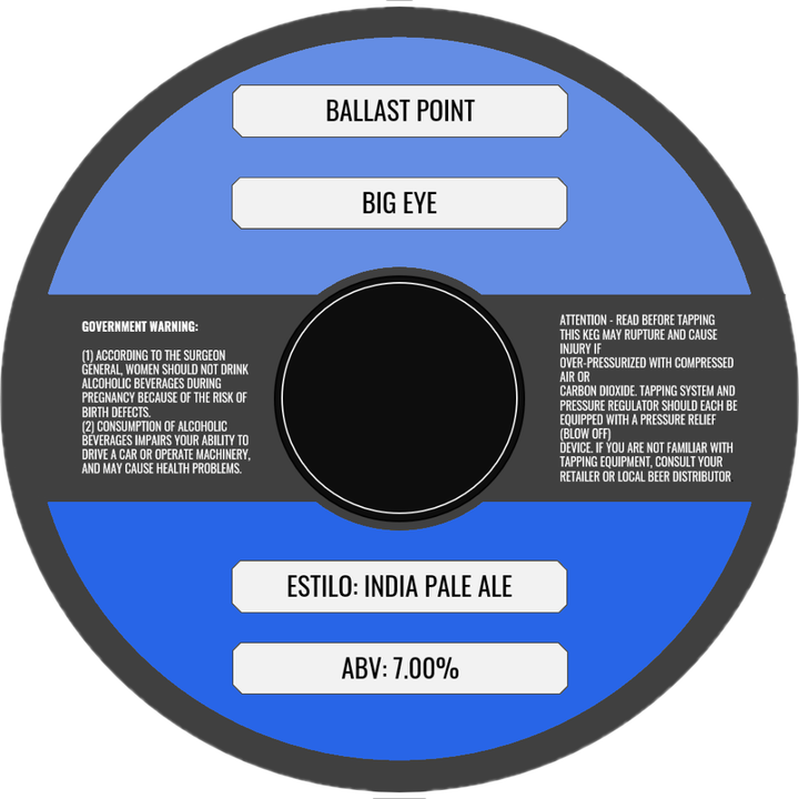 BALLAST POINT BIG EYE (BARRIL) - CebadaMalteada