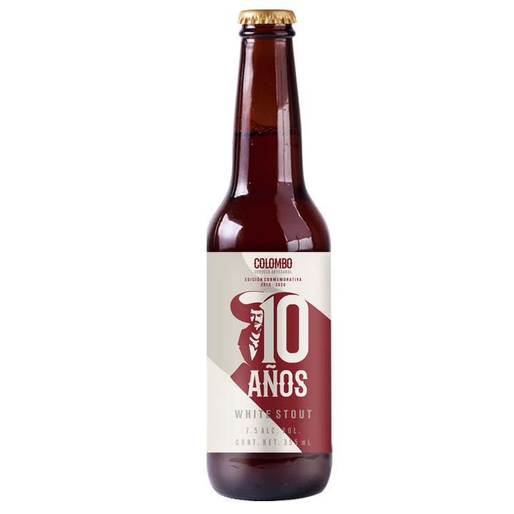 COLOMBO 10 AÑOS WHITE STOUT 355 ml - CebadaMalteada
