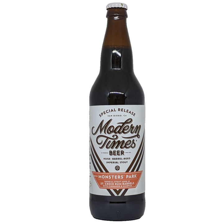 MODERN TIMES MONSTER'S PARK AGED IN ST. CROIX RUM BARRELS WITH CINNAMON AND ALLSPICE - CebadaMalteada
